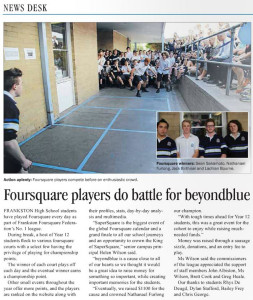 26 October 2015 - Page 14- Frankston Times - Foursquare