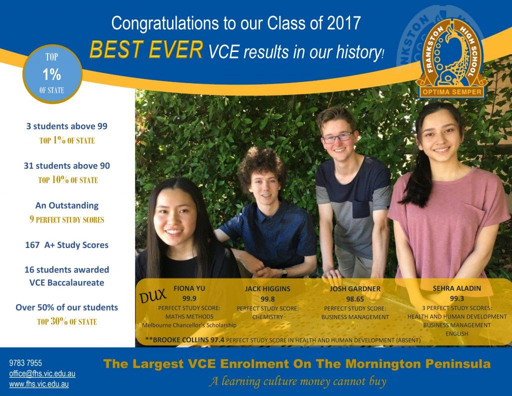 VCE results 2017